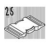 boucle clip 25